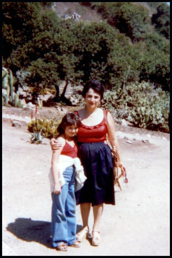 me and mom california