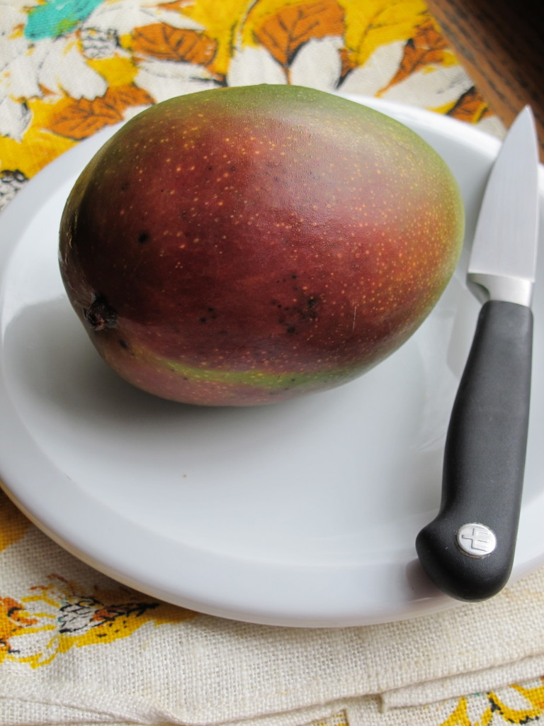 There Is A Ridge That Follows The Circumference Of The Mango Beginning At  The Stem And This Ridge Is The Outline Of The Seed Inside