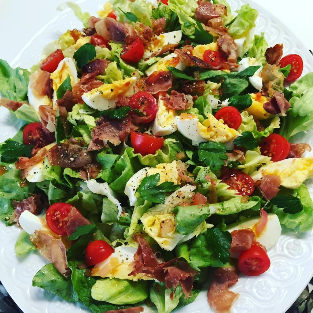 Prosciutto Butter Lettuce Salad